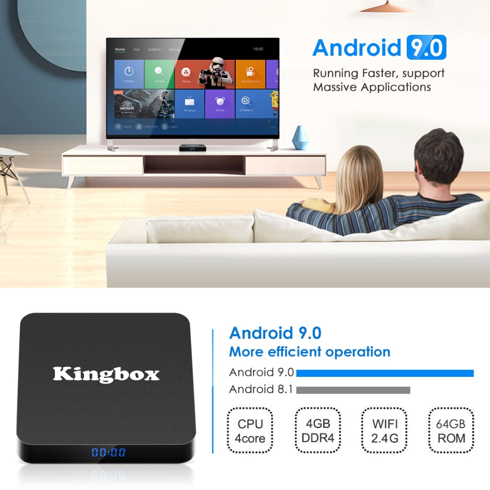 Image 3 - Android 9.0 Smart TV BOX Google Assistant RK3228 4G 64G TV receiver 4K Wifi Media player Play Store Free Apps Fast Set top Box-in Set-top Boxes from Consumer Electronics