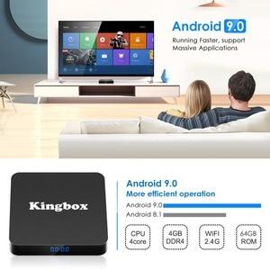 Image 4 - Leelbox K4 MAX Box 4 K TV Box RK3228 Quad Core 64 bit Mali 450 100Mbp Android 9.0 4 GB + 64 GB HDMI2.0 2.4G WiFi BT4.1 Nieuwste
