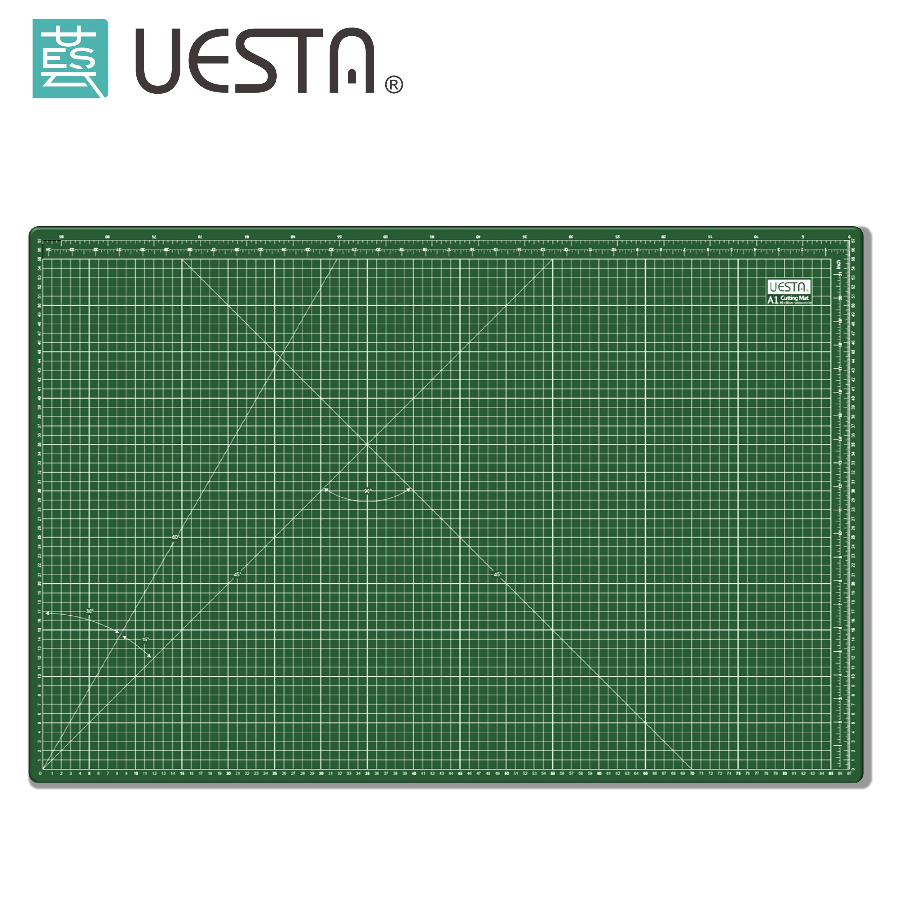Green 3 0 mm Rectangle Self Healing 5 Layers PVC Sewing Cutting Mat A1 90x60 cm