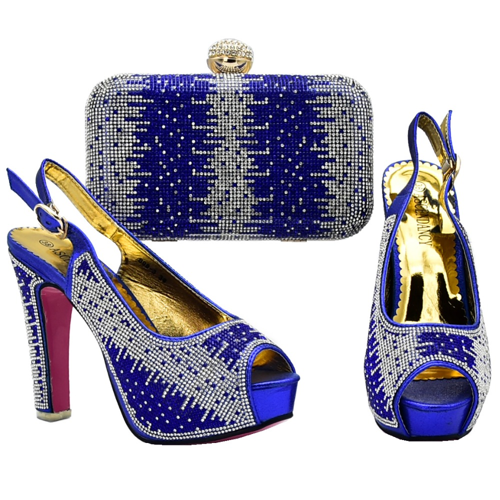 New arrival shoes and bag matching set 2018 italian shoe and bag for  african aso ebi 60cc743ed627