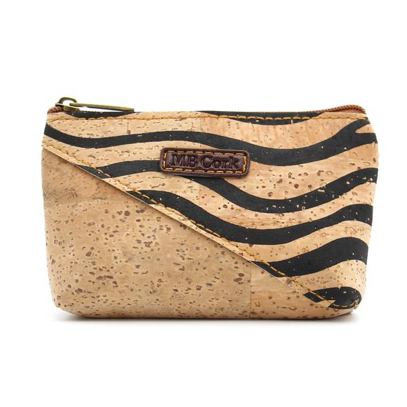 MBCork Cork Wallet Purse With A Zebra Pattern BAG-277-C-PT