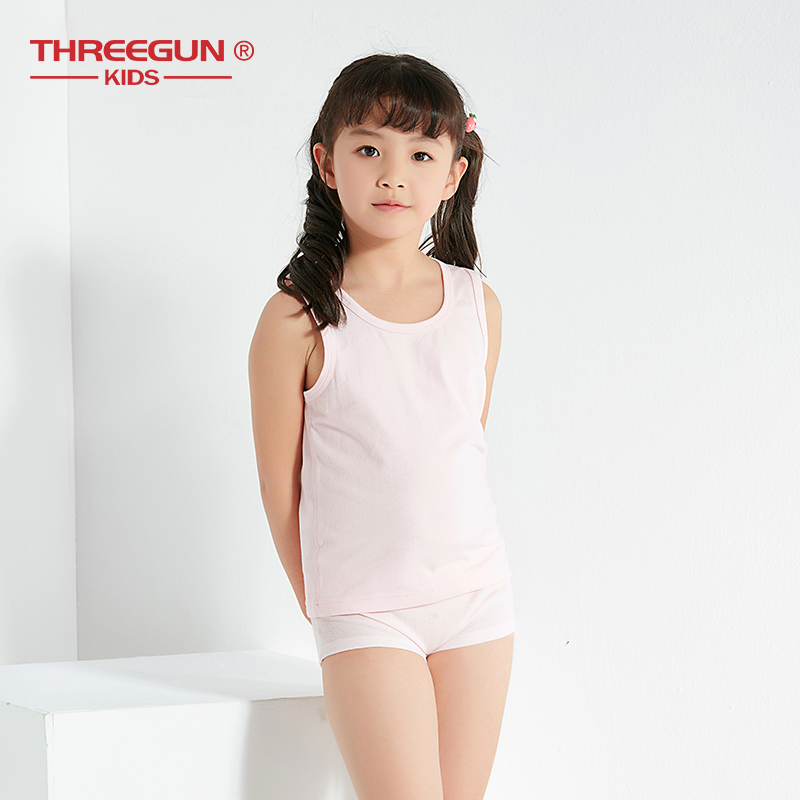 THREEGUN 3 Pcs Girls Boys Tank Tops Stretch Cotton Toddler Camisoles Children Clothing Underwear Undershirt Girl Boy Kids Vests girl