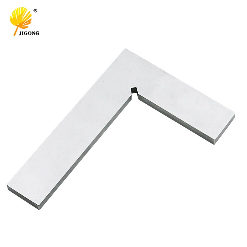JIGONG Silver Tone 99x70mm Bladed 90 Degree Angle Try Square Ruler Flat Corners Protractor