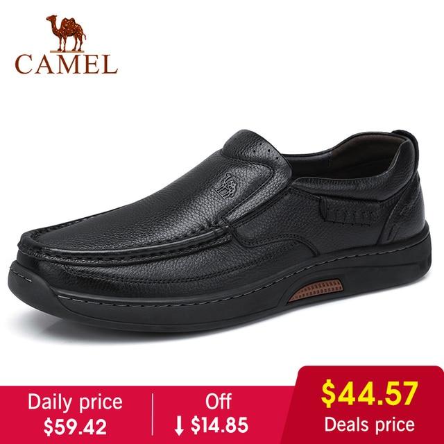 KAMEL Neue Komfortable Echtem Leder Männer Schuhe Männlichen Formalen Business Müßiggänger männer Leder Casual Schuhe Zapatos Mocasin Hombre