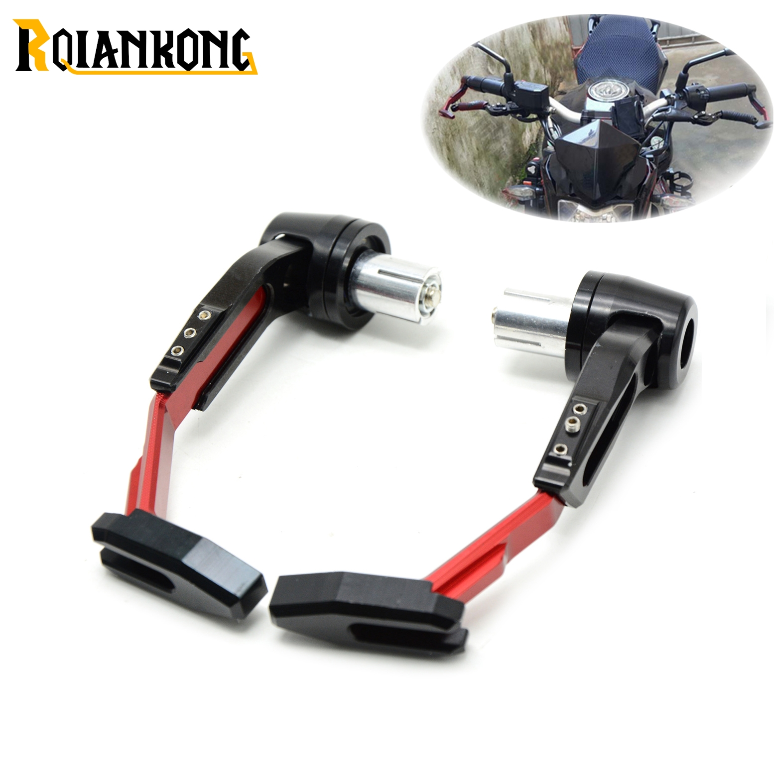 Universal 7/822mm Motorcycle Handlebar Clutch Brake Lever Protect Guard for Aprilia DORSODURO 1200 750 RST1000 FUTURA SHIVER GT top new cnc motorcycle brakes clutch levers for aprilia caponord etv1000 rst1000 futura 2001 2007 accessories free shipping