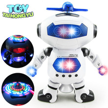 TAIHONGYU Space Dancer Humanoid Robot Toy With Light Children Pet Brinquedos Electronics