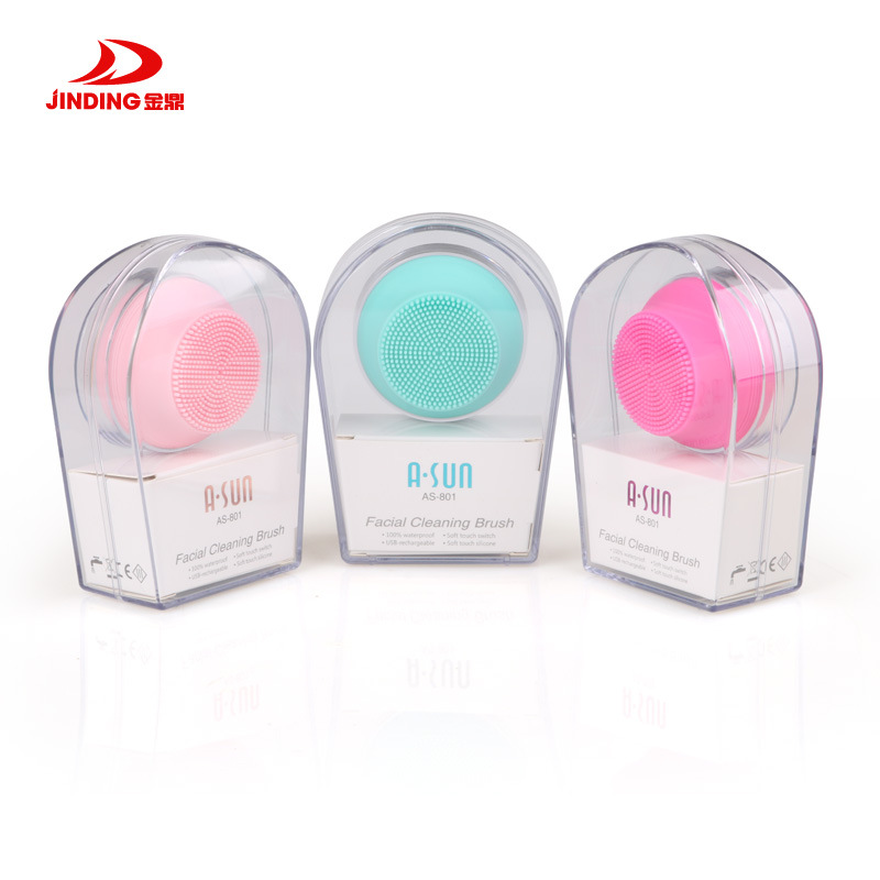 Exfoliating Brush face cleaner Silicone Face Cleansing Brush,Electric Face Cleanser Face Scrubber,Skin Care Spa Massage electric silicone face massage cleaner cleanser face cleansing brush blackhead remover skin care brushes
