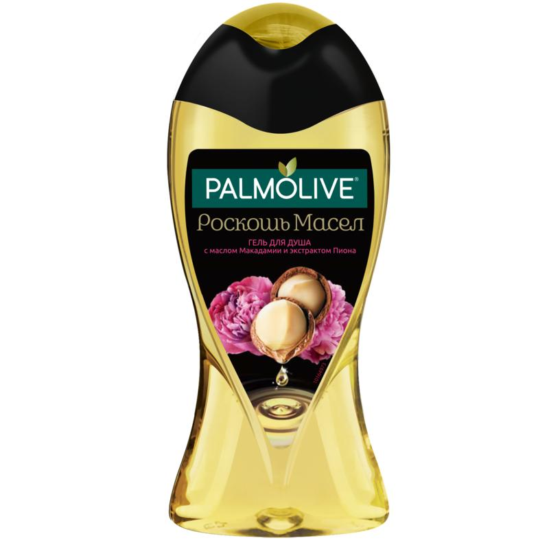 PALMOLIVE Luxury oils with Macadamia oil and Peony extract Shower gel, 250 ml Beauty rotatable stainless steel top rainfall pressure shower head set with hose and steering holder