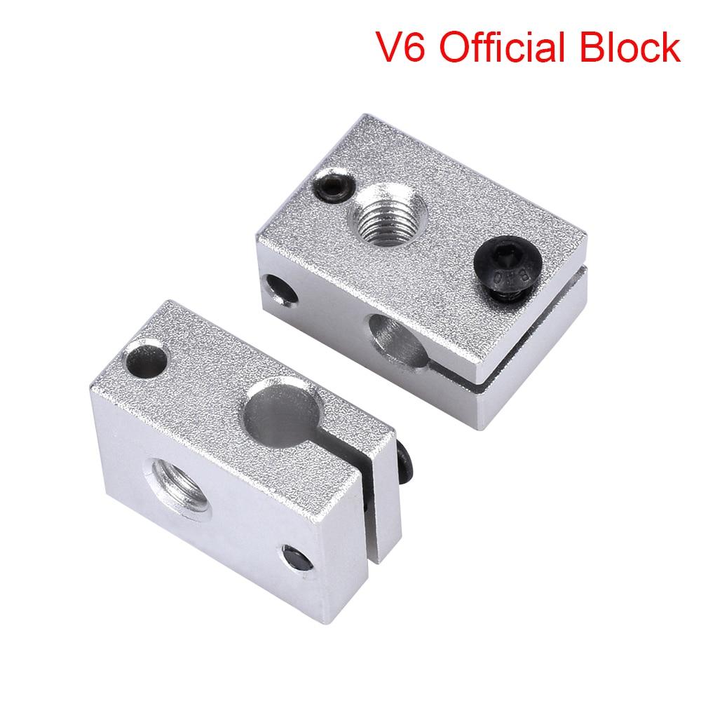 3D Printer Parts E3D V6 Heater Block Official Aluminum Block To J-head Hotend Bowden Extruder V6 Sil