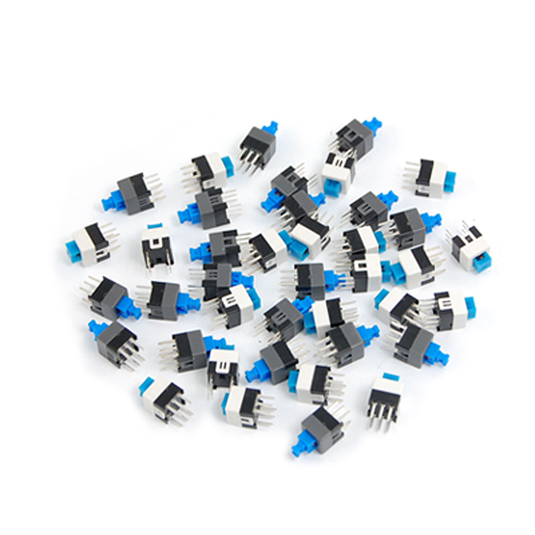 UXCELL 40 Pcs 7 X 7Mm Pcb Tact Tactile Push Button Switch Self Lock 6 Pin Dip Self-Locking For Fields Of Electronic Product