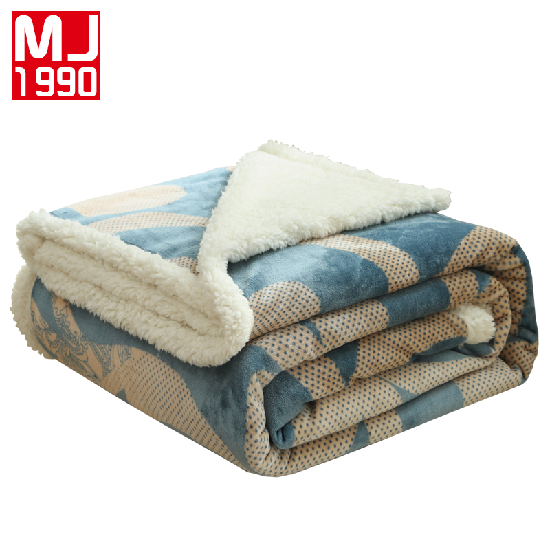 Sherpa Fleece Quality Throw Queen Twin Plush  Warm Blanket Winter Couch