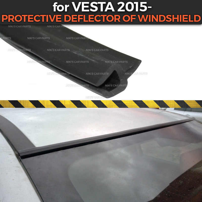 Protective deflector for Lada Vesta 2015- of windshield Rubber protection aerodynamic function car styling cover pad accessories