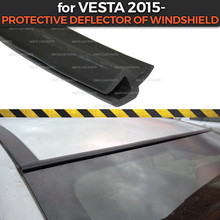 Lada Vesta 용 보호 디플렉터 2015  of 앞 유리 고무 보호 공기 역학 기능 자동차 스타일링 커버 패드 액세서리