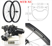 OEM cheap mtb carbon mountain bike wheels 29 er 32mm wide 28mm deep tubeless mountain bike wheelset carbon 29er mtb wheels Axle