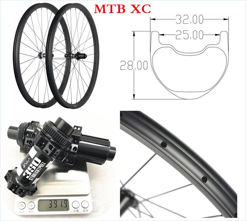 OEM pas cher vtt carbone VTT roues 29 er 32mm de large 28mm de profondeur tubeless VTT roues carbone 29er vtt roues essieu
