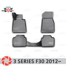 Коврики для BMW 3 серии F30 2012 ~ 2 Нескользящие полиуретановые предохранение от грязи интерьер автомобиля Средства для укладки волос украшение