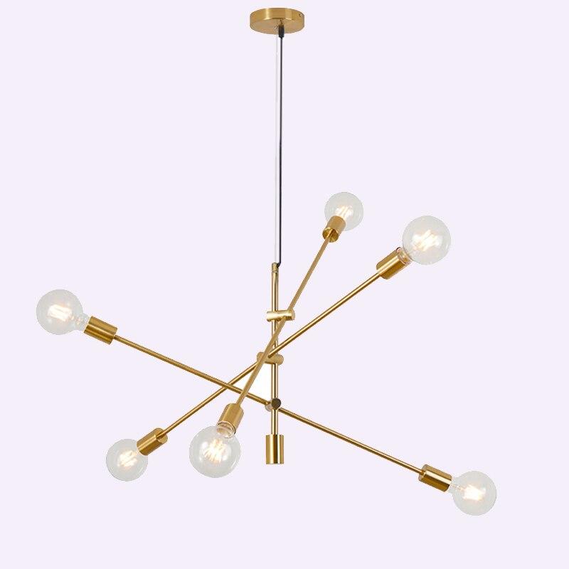 Modern Nordic living room creative chandeliers personality art wrought iron chandeliers LED geometric shape line lights недорго, оригинальная цена