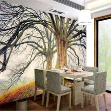цена на HD Forest Tree Landscape TV Background Wall Professional Production Wallpaper Mural Custom Photo Wall