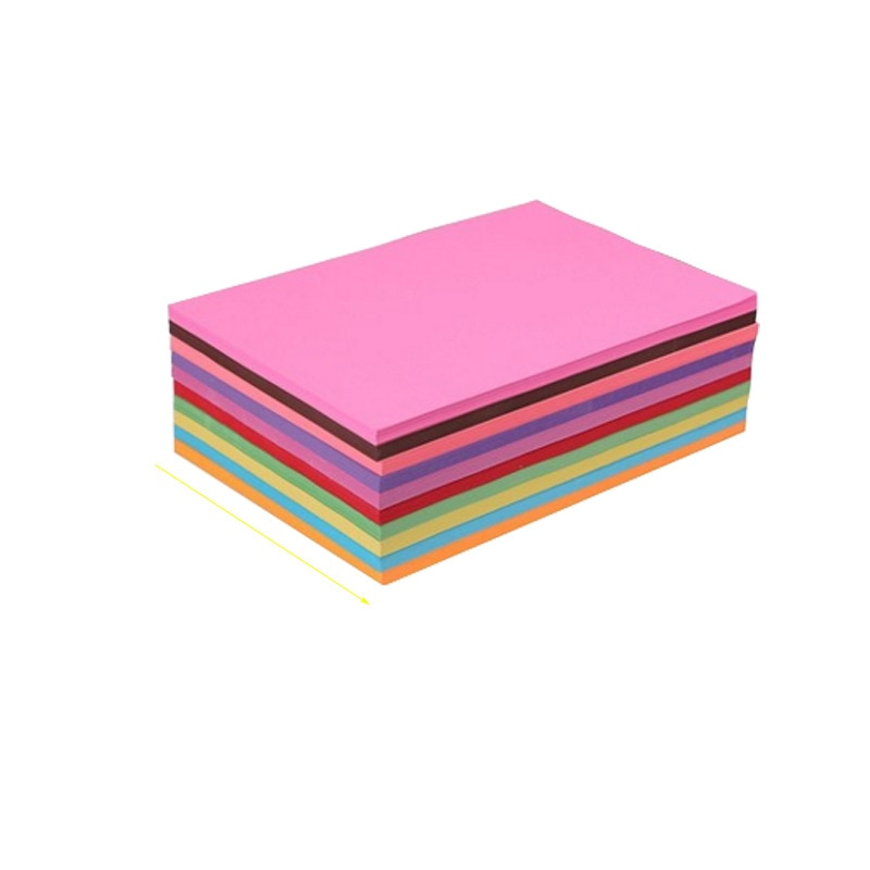 100 Sheets Colorful Copy Paper Hand-off Drawing Paper 70G A4 Print Copy Paper Office Supplies Colored Paper