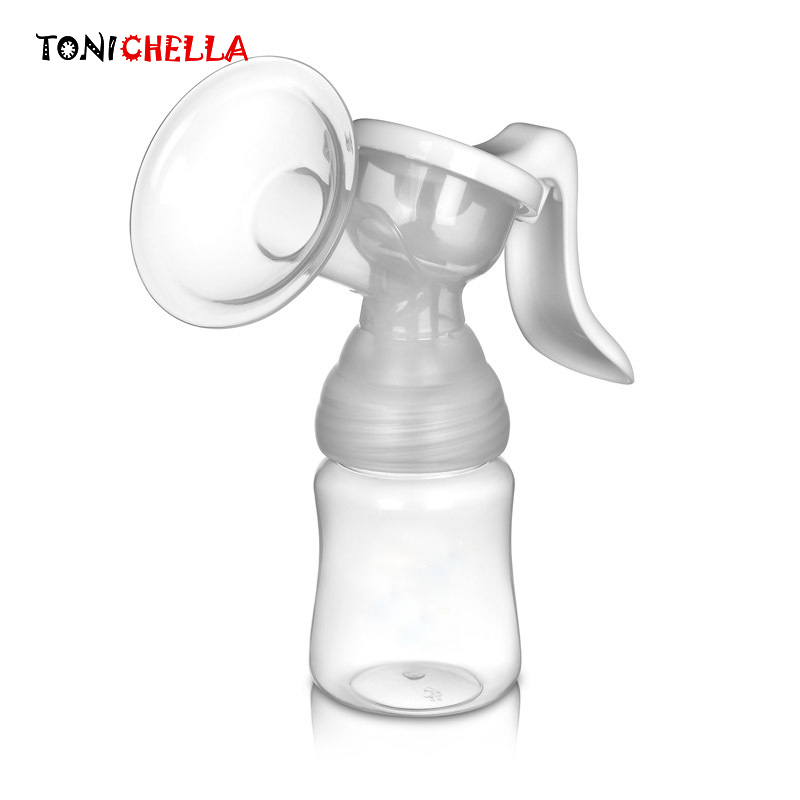 Powerful Manual Breast Pump Baby Feeding Nipple Suction Milk Pumps BPA Free Silicone Breasts Pumps Bottle Sucking T0098
