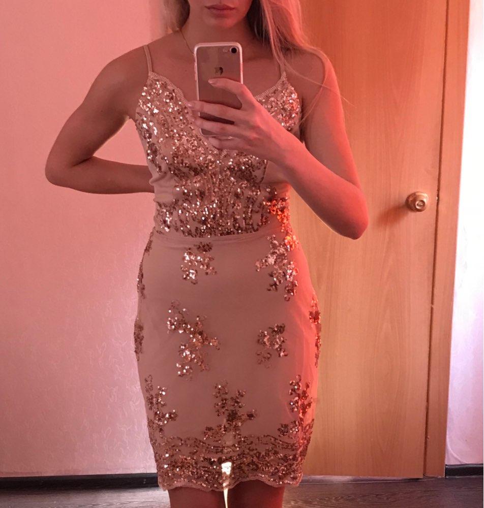 Для женщин S золотистый и черный Блёстки платье 2018 новый сексуальный v-образным вырезом спинки Для женщин сарафан Роскошные вечерние Клубные мини-платье с блестками Vestidos