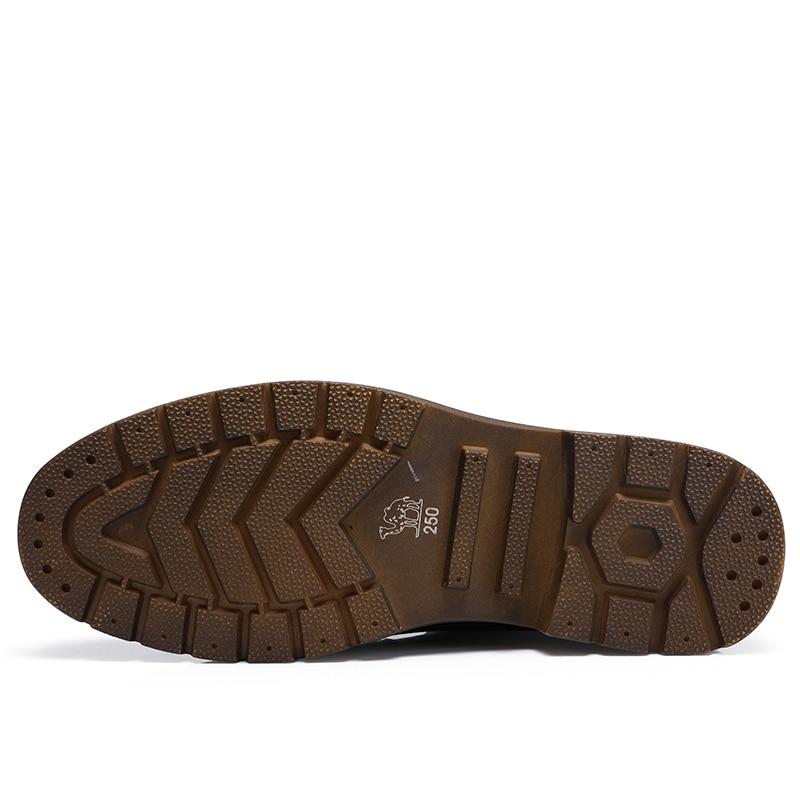 Mode Stiefel Leder Trend Mann Lässig High A842213784hs Kamel braun Männer Sohle Schwarz slip Non a842213784zs Echtem Bota top Retro Stiefeletten Kurze 4fIYx4nt