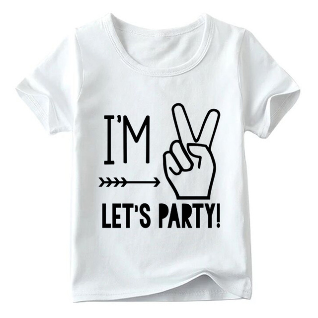 9ba3335d7 I m 1 2 3 4 5 Let s Party Design Kids T shirt Baby Summer White T ...