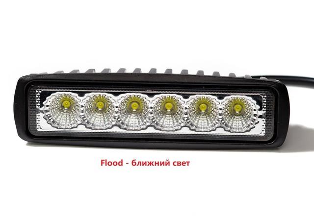 2pieces 18w DRL LED Work Light 10-30V 4WD 12v for Off Road Truck Bus Boat Fog Light Car Light Assembly ATV Daytime Running Light