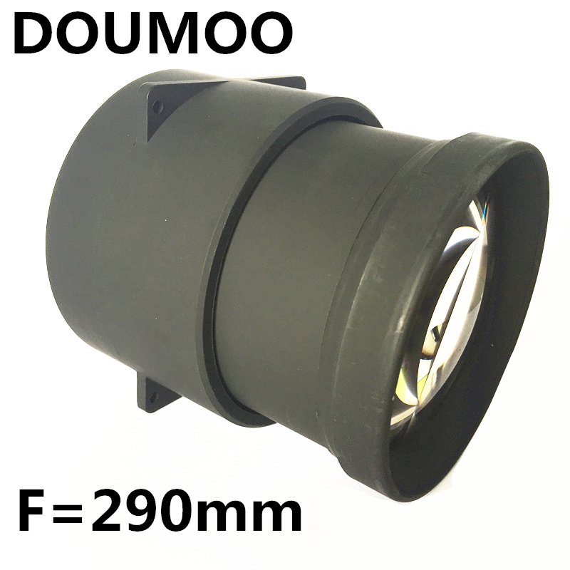 f 290mmLED projector accessories DIY RD-806 RD-808 projector large caliber glass lens F = 290 mm for 5.8 inch to 22 inch