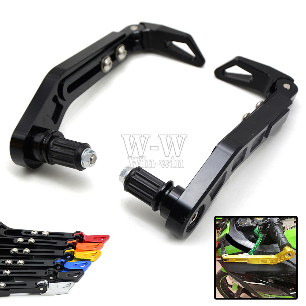 Universal 7/8 22mm Motorcycle Handlebar Brake Clutch Levers Protector Guard for Vespar Hyosung Moto Guzzi Huell Yoshimura f 16 dc 80 motorcycle brake clutch levers for moto guzzi breva 1100 norge 1200 gt8v 1200 sport caponord etv1000