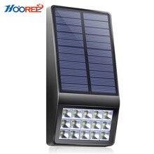 HOOREE новый Солнечный свет 15 светодиодный супер яркий Энергия Солнечный свет сада наружного освещения Водонепроницаемый IP65 газон настенные светодиодный солнечный лампы