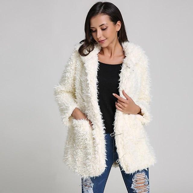4aab8cf61e Fashion Women Hoodie Coats 2018 Autumn Winter Warm Teddy Bear Ears Thick  Soft Fleece Fur Cute