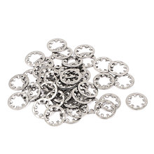 M6 304 Stainless Steel Internal Star Lock Washers 50 Pcs