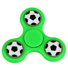 Newest Colorful Football Fidget Spinner Rainbow Fingertips Gyro Hand Spinner Toy as Gift