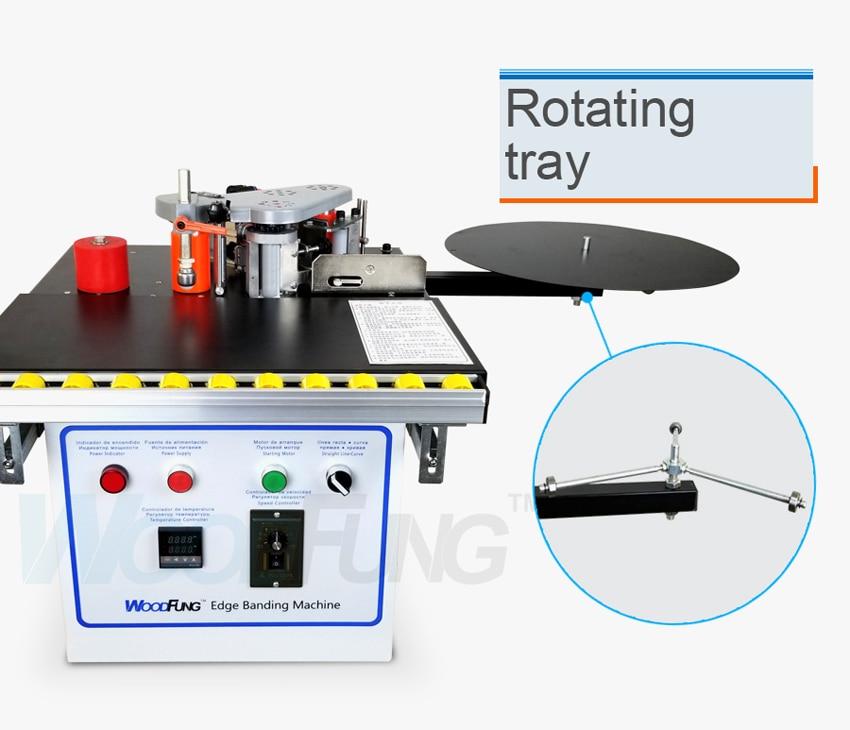 MY-07 мини ручной деревянный ПВХ кромкооблицовочный станок с резки станок для облицовывания кромок ПВХ сам и контроль скорости