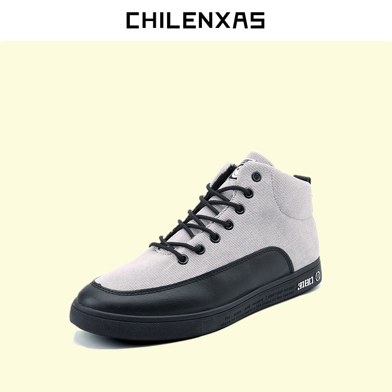 CHILENXAS 2017 Autumn Winter Fashion Leather Casual Brogue Shoes Men Comfortable Breathable Loafers Height Increasing Waterproof new 2017 men s genuine leather casual shoes korean fashion style breathable male shoes men spring autumn slip on low top loafers