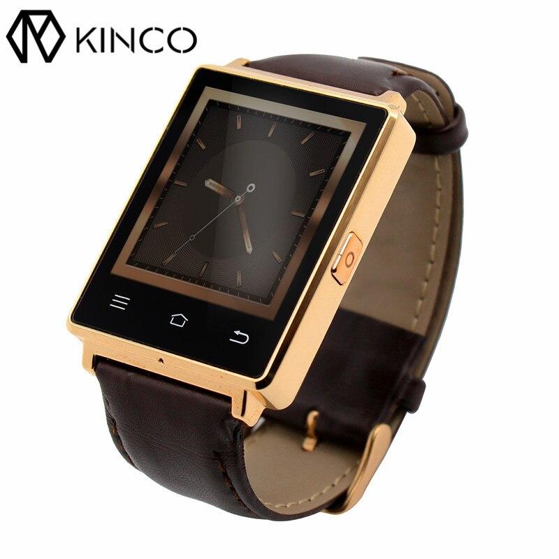KINCO MTK6580 RAM 1GB ROM 8GB 1.63 inch Bluetooth Smart Watch Heart Rate Monitor Health Data Sync Smart Wristbands for Phone цена и фото