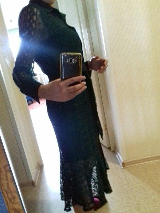 Vintage Hollow Out Lace Women Long Dress Bandage Elegant Mermaid Female Dress Full Sleeve Vestidos photo review