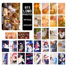 30pcs/set 2017 BTS Bangtan Boys YOU NEVER WALK ALONE Album LOMO Cards New Fashion Self Made Paper Photo Card HD Paper(China)