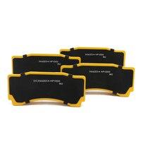 Koko racing semimetal pastilhas de freio para bmw e90 para o desempenho 18z com wt9660 6 potes pinças freio do carro