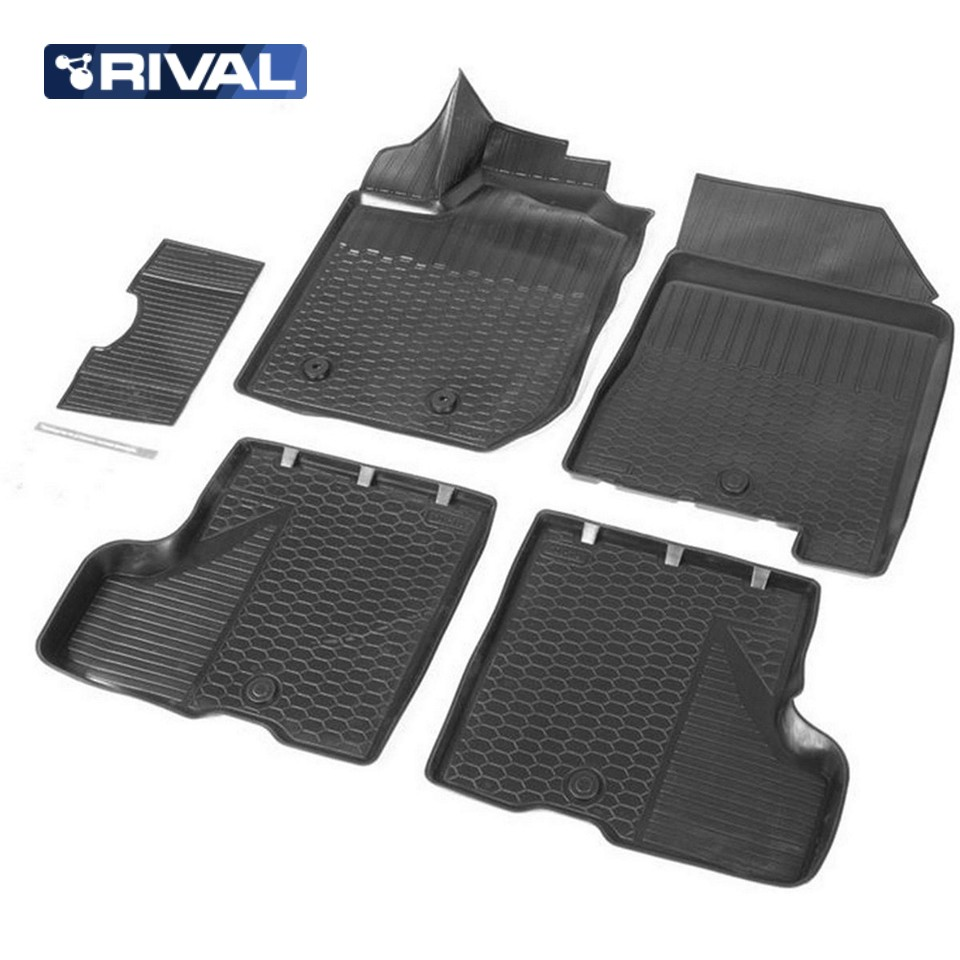 For Lada XRay 2016-2019 3D floor mats into saloon for cars WITH STORAGE BOX under passenger seat 5 pcs/set Rival 16007001 x96 italy iptv germany iptv box with android box 6 0 4k amlogic smart tv 3000 albania french turkey uk adult set top box