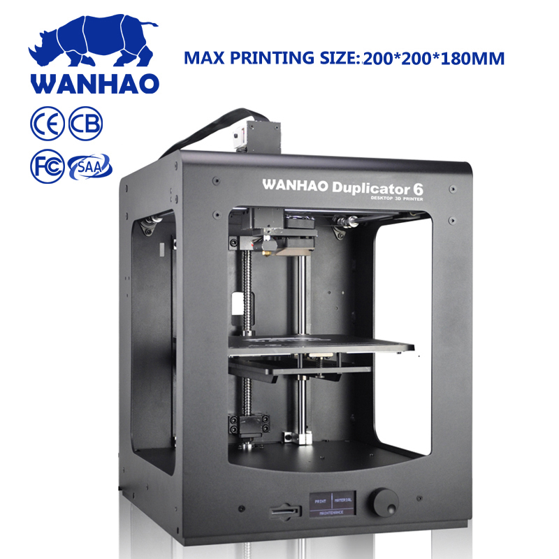 Wanhao TopSell 3D printer Duplicator 6 PLUS MARK II home use and industrial grade with fast printing speed auto leveling machine цены