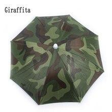 Outdoor Umbrella Hat  Sun Shade Camping Fishing Hiking Festivals Outdoor Camouflage Umbrella UV Protection