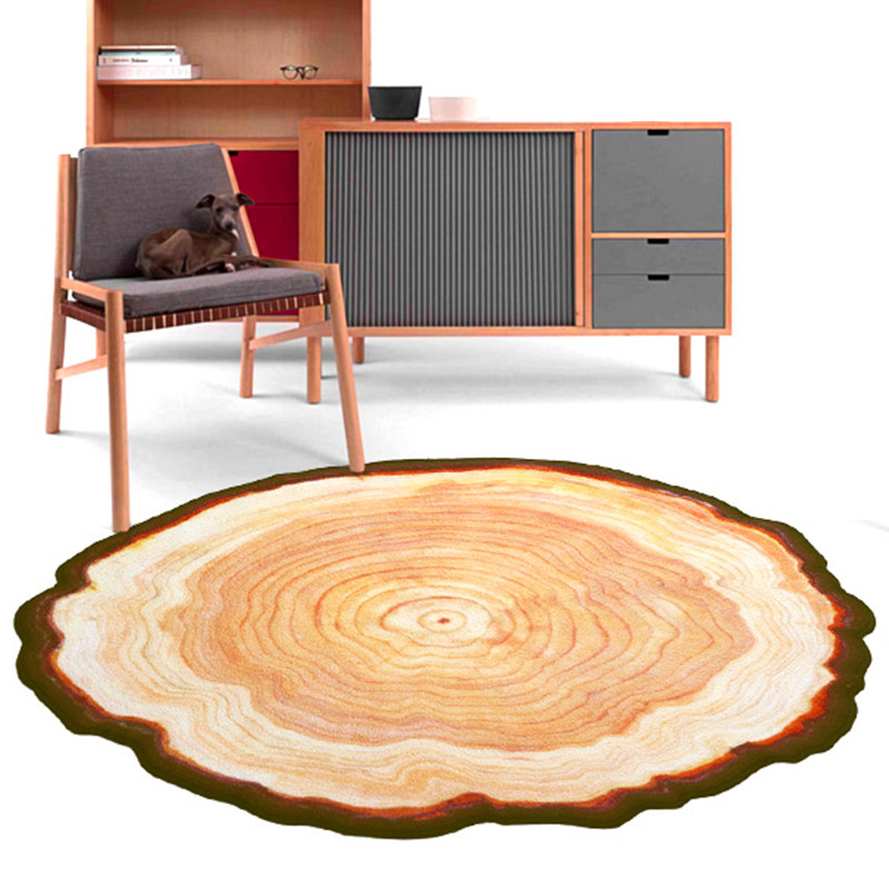 High Quality Floor Mat Office Chair Comfort Ancient Tree Rings Shaped Wood Color Doormat ...