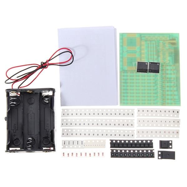 1 Set HKT002 SMD Soldering Practice Board Electronic Components DIY Learning Kit1 Set HKT002 SMD Soldering Practice Board Electronic Components DIY Learning Kit