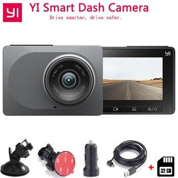 "Xiaomi YI Smart Dash Camera Auto Driving Recorder WiFi Car DVR HD 1080P 2.7"" 165 degree 60fps ADAS Safe Reminder Dashcam"