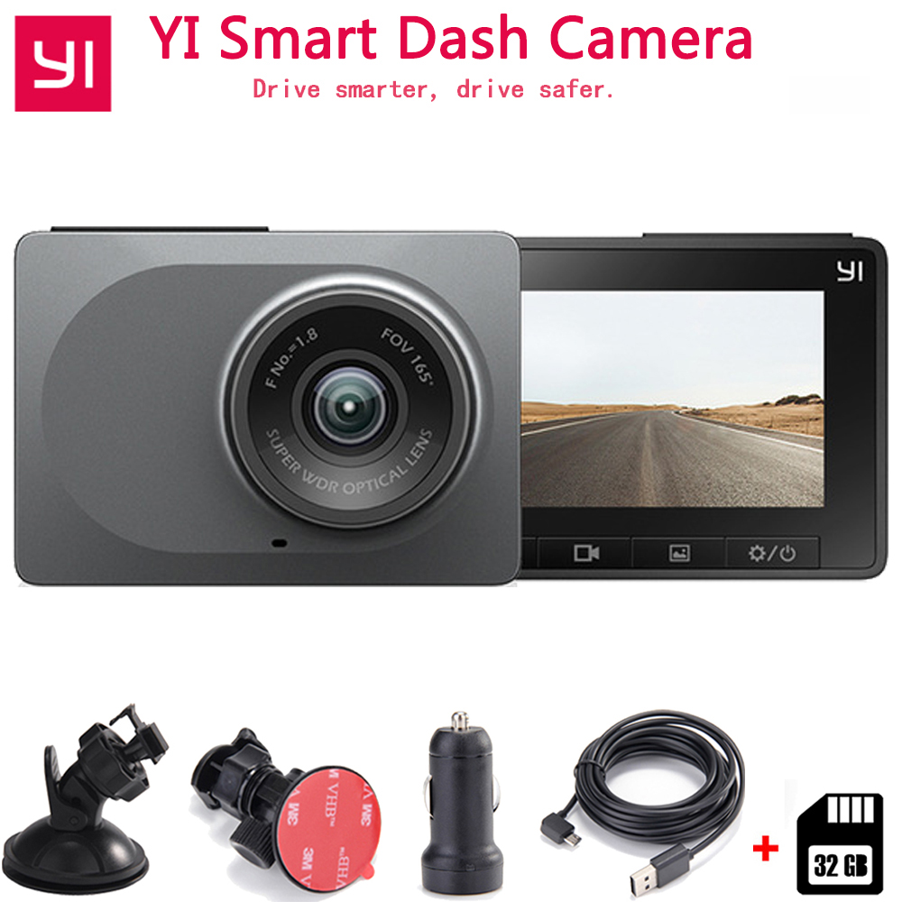 YI Smart Dash Camera Auto Driving Recorder WiFi Car DVR HD 1080P 2.7 165 degree 60fps ADAS Safe Reminder Dashcam