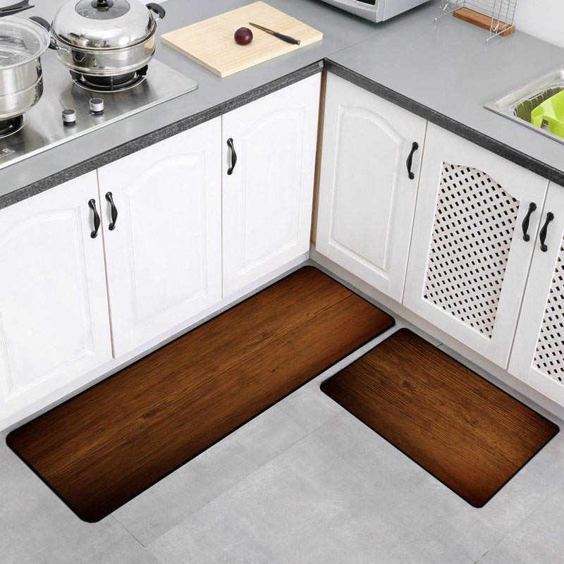 Fine Wood Floor Style Anti Slip Kitchen Mat Long Bath Carpet Modern Outdoor Entrance Doormat Absorbent Bedroom Living Room Table Mats Interior Design Ideas Clesiryabchikinfo