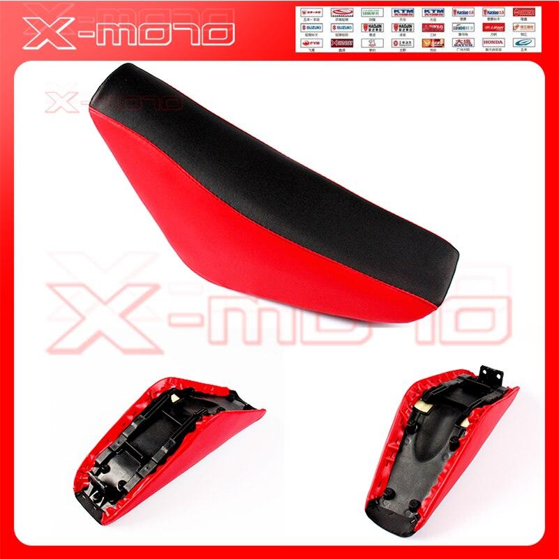 Siège en mousse haute pour Pit Dirt Bike Honda 50 70 90cc 110cc 125cc 140cc 150cc 160cc XR50 CRF50 SSR Pit Bike sièges rouges livraison gratuite