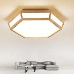 Nowoczesne kreatywne drewniane oświetlenie sufitowe LED kryty oświetlenie oprawa lampy sufitowe do dekoracji domu w salonie projekt ściemniania